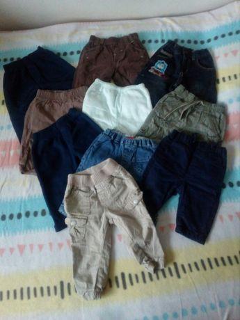 10 sztuk spodni chłopięcych 56, 62, 68
