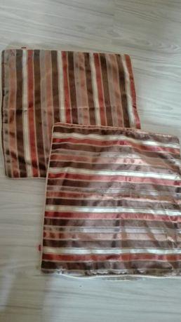 Dwie poszewki na poduszki Home&you brązowe paski jak nowe