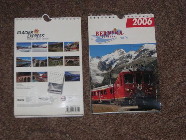 Kolejowe kalendarze Glacier Express i Bernina