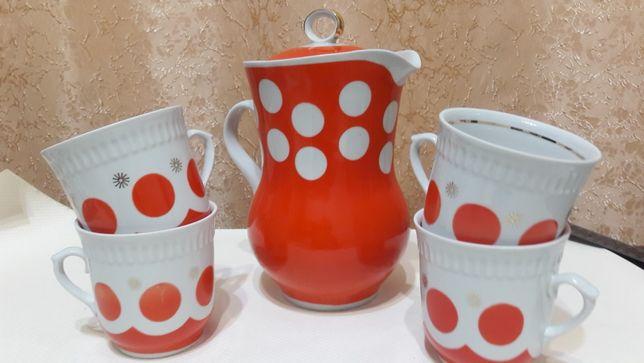 Новый набор молочный/ кувшин с чашками