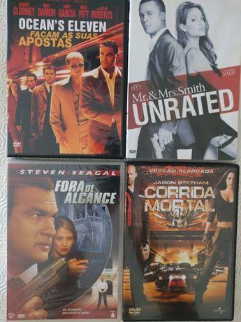 DVD'S-4 filmes-originais c/qualidade. O preço é o total das 4 unidades