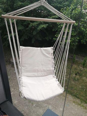 Huśtawka fotel wiszący beżowy