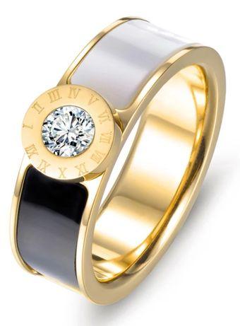 Przepiękny pierścionek ze stali nierdzewnej z cyrkoniar 19 tylko 29,99