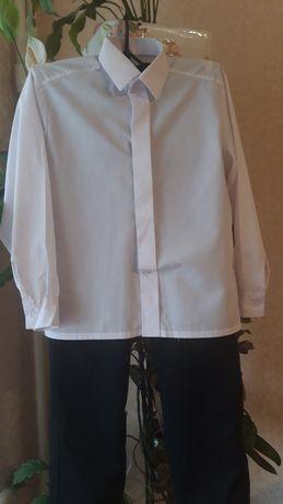 Набір штани чорні + сорочка біла на ріст 128см