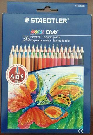 Caixa com 36 lápis de cor - Marca STAEDTLER (noris club).