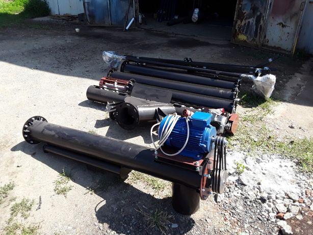 Шнековый погрузчик винтовой конвейер диаметром трубы 220 мм