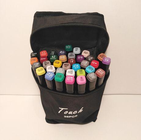 Скетч маркеры 36  цветов двусторонние Touch