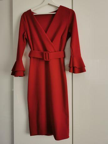 Czerwona sukienka r. 38