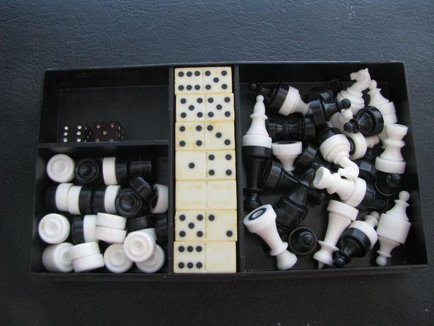 СССР Дорожный набор шашки, шахматы, домино , кости Настольные игры