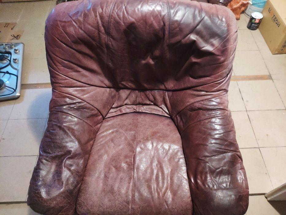 Używany fotel skórzany Dynów - image 1