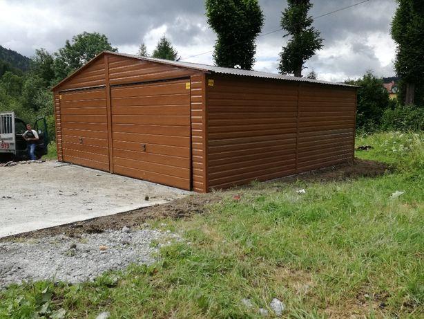 Garaż drewnopodobny 6\6 Złoty Dąb Struktura drewna okleina