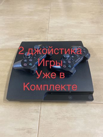 ПрошитаяSony Playstation 3 Slim 250gb+25игр Игр+GTA 5 Гарантия