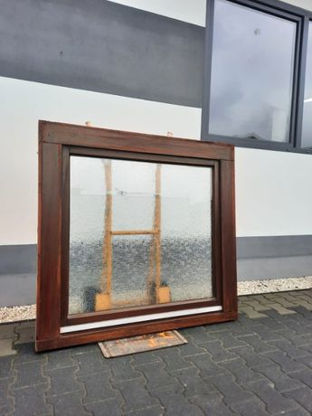 Okno Drewniane Mahoniowe 130 x 123 Używane OKNA z Niemiec WYSYŁKA
