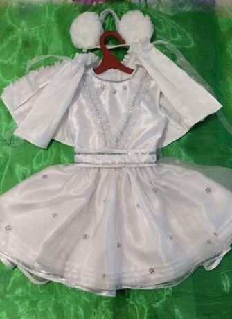 Новогодний карнавальный костюм платье Снежинка Зима Мышка Мишутка