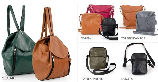 Plecaki torebki kurtki kamizelki skórzane - sprzedaż, produkcja