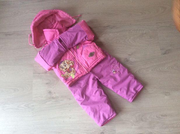 Детская весенне-осенняя курточка ,комбинезон на девочку 9-12 месяцев