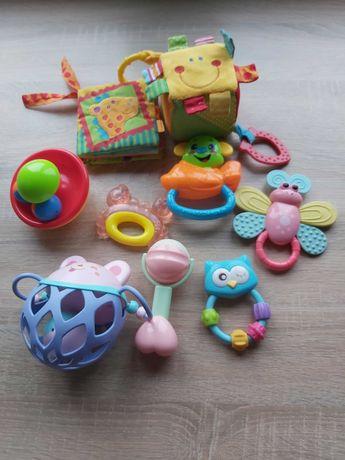 Grzechotki i zabawki 10 sztuk