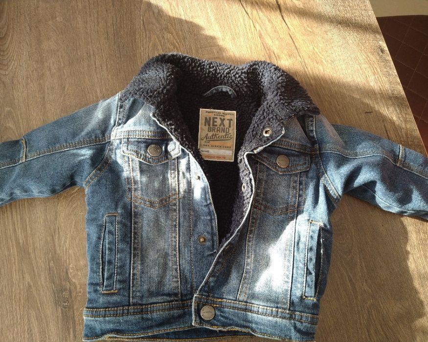 Kurtka Next Jeans baranek 9-12 mcy 80-86 Bytom - image 1