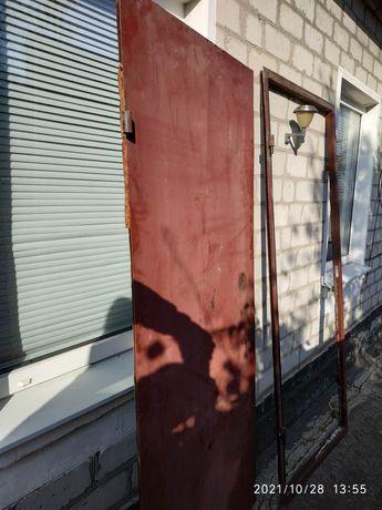 Дверь входная металлическая рама ширина 76/высота 196 дверь ширина 90/