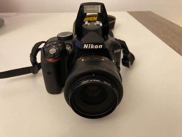 aparat lustrzanka Nikon D3300 + Nikkor 18-55 i 35 + lampa YN-568EX