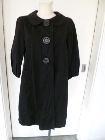 Czarny, oryginalny płaszcz, roz. M/L/14