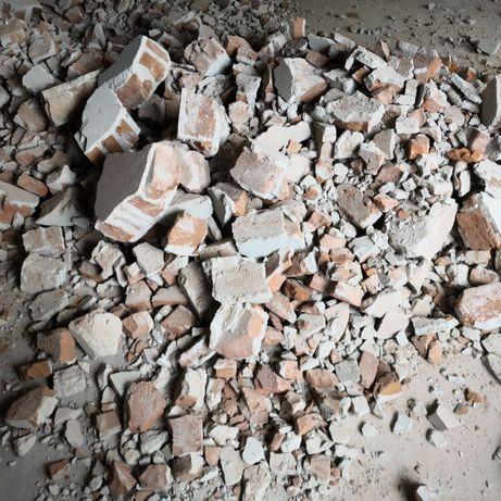 Будівельний бій,чистий,цегла повнотіла зі штукатуркою
