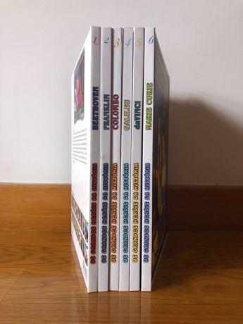"""6 Livros + 6 dvd's da Coleção """"Os grandes heróis da história"""""""