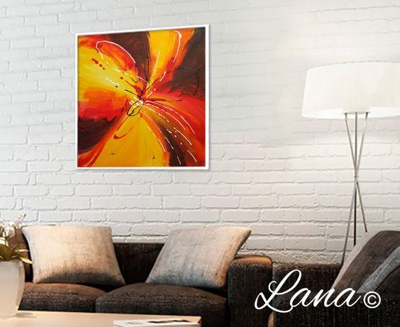 Картина маслом, холст, панно, цветы, абстракции, 50*50см