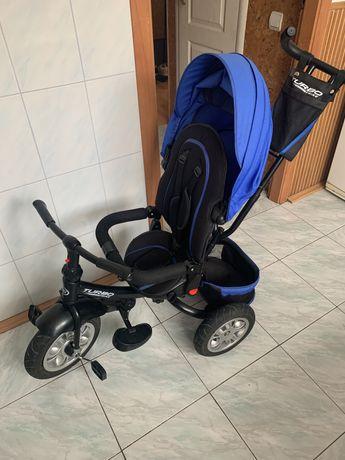 Детский велосипед с ручкой Turbo.Дитячий трьохколісний візок-велосипед