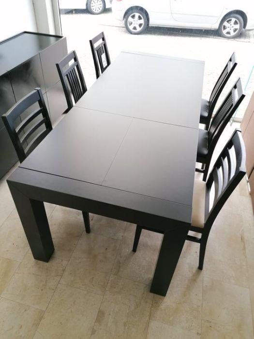 Mesa extensível com pe´é de arrasto nova