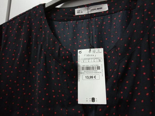 Blusa tipo seda Nova como etiqueta Sfera L