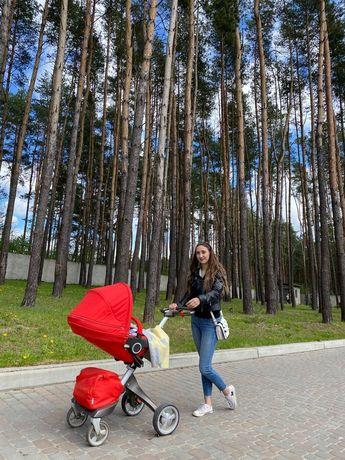 Дитяча коляска Stokke xplory v4 3 в 1 (Прогулка,люлька +автокрісло)