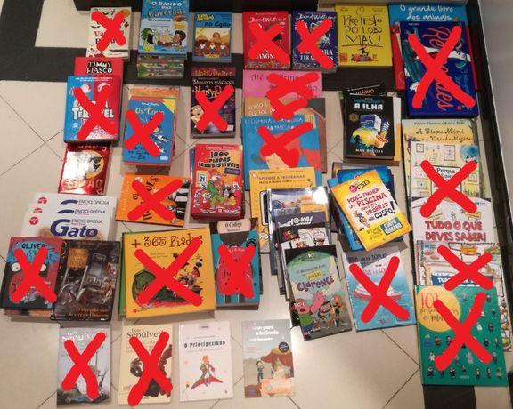 Diversos livros juvenis actuais (ver todas as fotos)