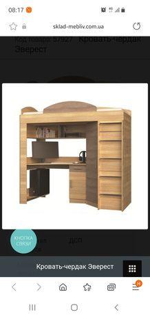 Кровать чардак (со столом и шкафом)