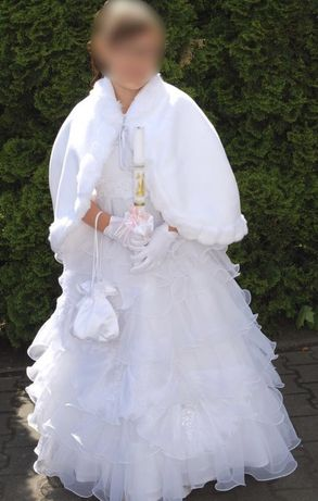 Sukienka komunijna r. 134 + GRATISY