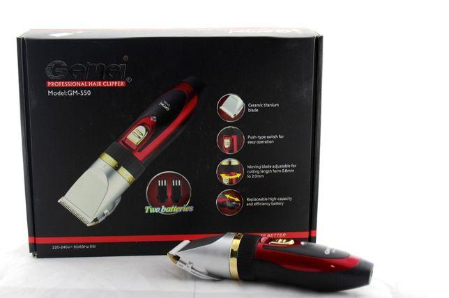 Машинка для стрижки Gemei Gm-550, керамические ножи, 2 аккумулятора