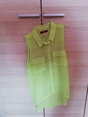Zwiewna, letnia neonowa koszula
