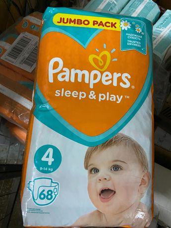 Подгузники Pampers Sleep & Play Maxi 4 (9-14 кг) 68шт в 1уп.