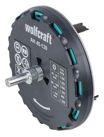 Коронка регулируемая Wolfcraft AH 45-130 Ø45-130мм