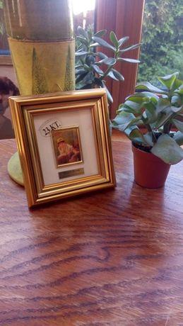 Mini obraz, reprodukcja Auguste Renoir (23 KT. złotem) PREZENT OKAZJA!