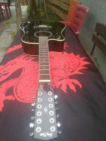 Gitara dla leworęcznych firmy Harley Benton, dwunastostrunowa