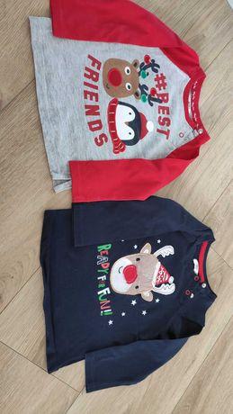 Dwie bluzeczki świąteczne