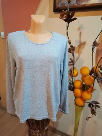 Bluzka, sweterek szary cieplutki Janina 46,48 asymetryczny