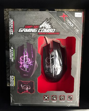 Conjunto / kit gaming - Rato gaming e tapete de rato - Novo