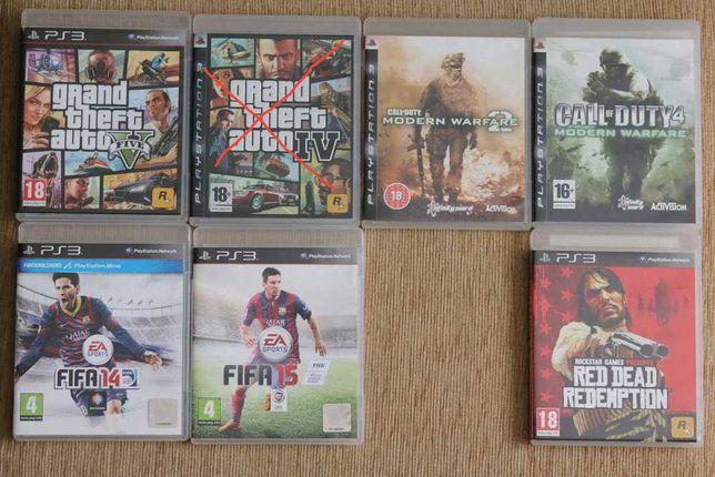 Jogos PS3 - GTA 5, COD MW2, COD4 MW, FIFA 14e15, Read Dead Redemption
