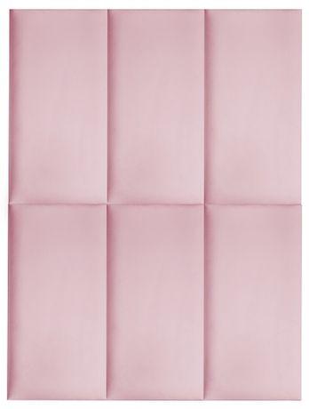 Różowe pluszowe panele tapicerowane 60x30 dla dziewczynki PLAMOODPORNE