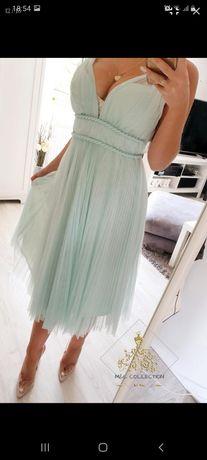 Sukienka ASOS miętowa 36 s