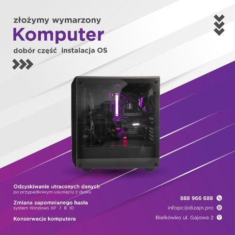 Składanie komputerów PC / Instalacja OS / Odzysk danych / Konserwacja