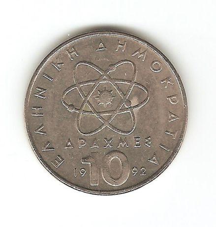 Монета 10 драхм Греции, 1992 год