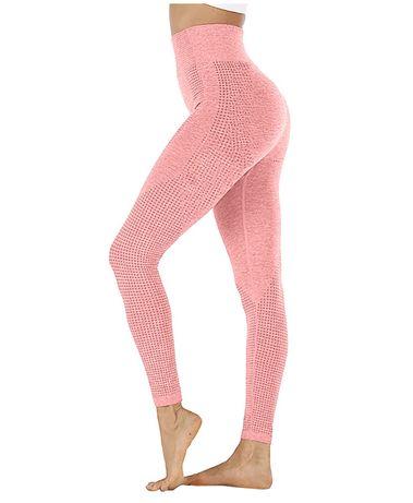 Bezszowe legginsy PINK r. L 4 glamour baby pink yoga fitness